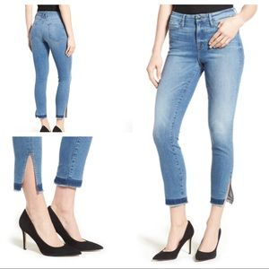Good American Good Legs High Rise Split Hem Jean